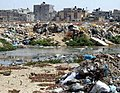 Waste piles up at rafah municipality waste dump.jpg