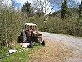 Wayside tractor near Glen Bridge - geograph.org.uk - 796562.jpg