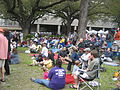 Wednesday at Square NOLA Mch 2010 crowd we never lose.JPG