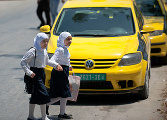 State of Palestine - Palestinian girls in Nablus