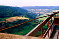 West Germany - Construction of the Kochertal-Brucke - View from the not finished bridge - 26 August 1978.jpg