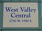 West Valley Central station passenger platform sign, Aug 16.jpg