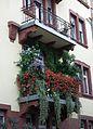 Weststadt bepflanzter Balkon 2011.JPG
