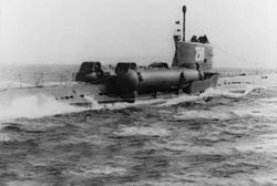 A Whiskey Twin Cylinder class guided missile submarine, an important platform for launching anti-shipping strikes.