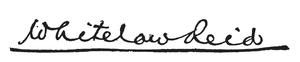 Whitelaw Reid - Image: Whitelaw Reid Signature
