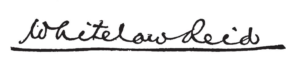 Whitelaw Reid's signature
