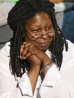 A photo of Whoopi Goldberg during rehearsals for Comic Relief 2006.