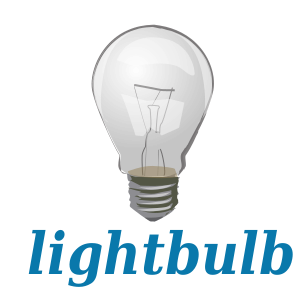 English: Lightbulb. Linguistic teaching tool