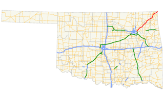 Will Rogers Turnpike highway in Oklahoma