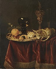 Still Life with a Silver Dish and Goblet