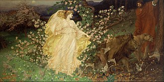 Aeneas - Painting Venus and Anchises by William Blake Richmond (1889 or 90)
