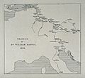 William Harvey; a map of his travels across Europe in 1636.P Wellcome V0018729.jpg