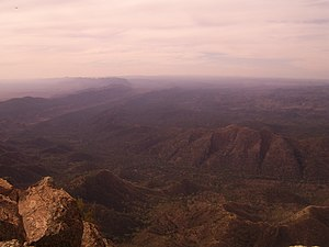 Wilpena Pound - Wilpena Pound viewed from St Mary Peak