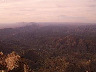 Wilpena Pound - Wilpena Pound viewed from St Mary Peak