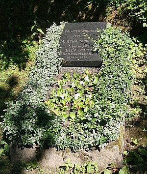 Wilhelm Windelband - His grave in Heidelberg