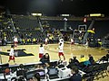 Wisconsin vs. Michigan women's basketball 2013 02 (Wisconsin warming up).jpg