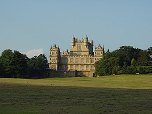 Elizabethan architecture - Wollaton Hall, Nottingham, England completed in 1588 for Sir Francis Willoughby by the Elizabethan architect Robert Smythson.