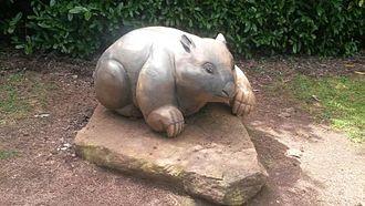 Wombat - Wombat sculpture, Wombat Hill Botanic Gardens, Daylesford, Victoria