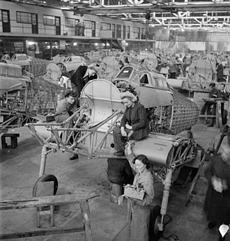 Hawker Hurricane - Hurricane production line, 1942