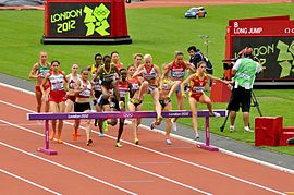 Womens 3000m Steeplechasers Take the Hurdle.jpg