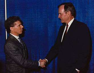 Sean Hamilton - Working with President George H.W. Bush at a youth anti-drug rally in 1991.