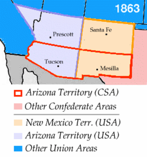Confederate Arizona - Image: Wpdms arizona new mexico territories 1863 idx