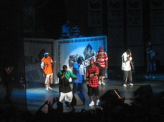 Rock the Bells - Wu-Tang Clan performing at the Tweeter Center in Mansfield, Massachusetts on the opening night of the 2007 tour.