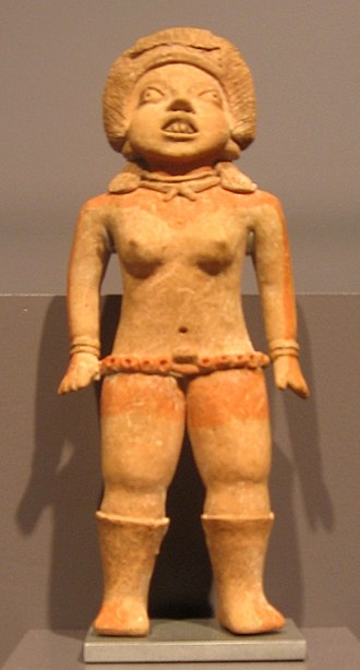 Xochipala - A female, often identified as a ballplayer 10th - 9th century BCE or 15th - 10th century.