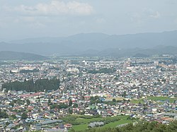 Overview of downtown Yonezawa