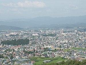 Yonezawa, Yamagata - Overview of downtown Yonezawa