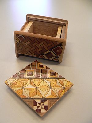 Puzzle box - Japanese puzzle box, open