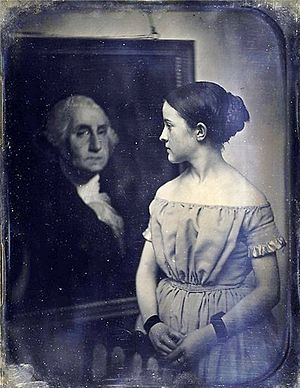 Josiah Johnson Hawes - Image: Young girl with portrait of George Washington (05)