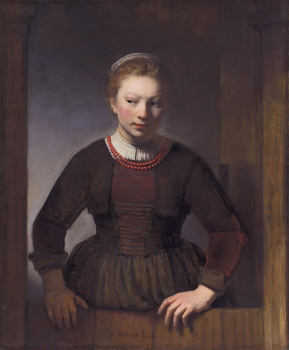 Young woman at an open half-door, attributed to Samuel van Hoogstraten.jpg