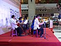 Yulin Guzheng Band Concert at Taipei Station Hall Stage Side View 20150609.JPG