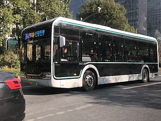 Yutong - Image: Yutong E10 Shanghai electric bus 004