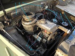 ZIL-131 - ZIL-130 engine on ZIL-131, right side