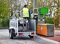 Zapfsäuleneichung an Tankstelle in Hessen durch Eichamt P1230139.JPG
