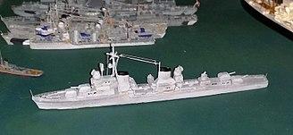 German World War II destroyers - Model of the German Zerstörer Class 1945