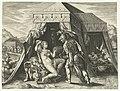 Zimri pleegt ontucht met Kozbi het zesde Gebod Tien Geboden (serietitel) Decalogvs cvm acerbissimis (serietitel op object), RP-P-1977-57.jpg