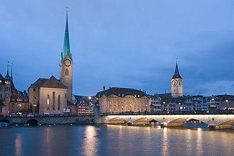 Alois Negrelli - Münster-Bridge in Zurich, 1838.