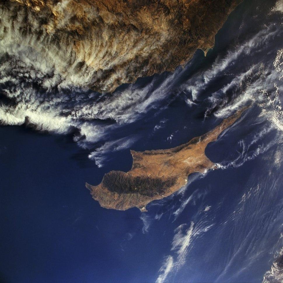 Zypern aus dem Weltall gesehen
