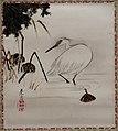 'Heron and Lotus Pods' by Shibata Zeshin, Honolulu Museum of Art, 4657.1.JPG