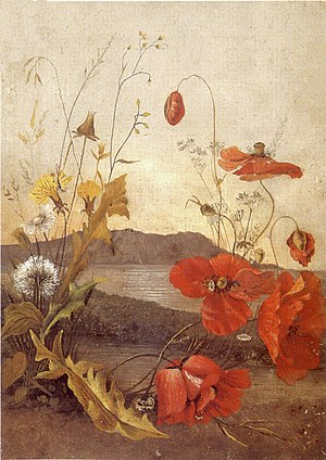 Kaʻiulani - 'Poppies', oil on canvas painting 1890