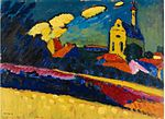 'Study of Murnau, Landscape with Church' by Wassily Kandinsky, 1909.jpg