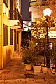 (Ang.) Geronta Street in Plaka. In the distance the Acropolis.jpg