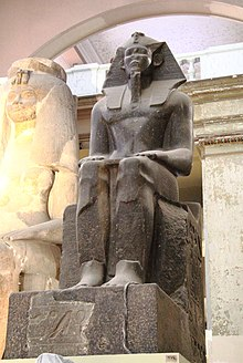 Granite statue of Imyremeshaw in the Egyptian Museum in Cairo