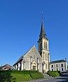 Église Saint-Germain du Breuil-en-Auge. Vue ouest.jpg