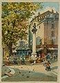 Émile Henry, La Place d'Aubagne, aquarelle, fin XIXe.jpg