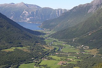 Sunndal - View of the Øksendal valley