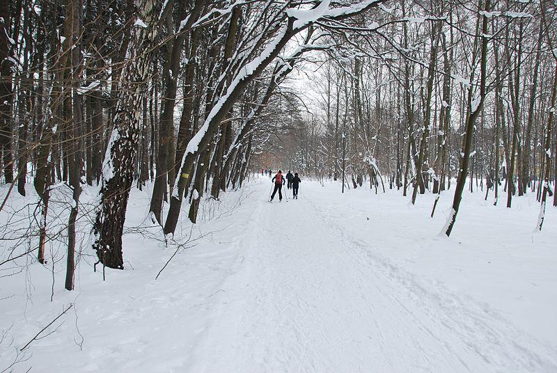 Lodz, Polônia, no inverno